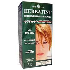 Light Golden Blonde Hair Color Herbatint Permanent Herbal Haircolor Gel 8d Light Golden Blonde