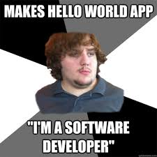 App That Makes Memes - makes hello world app i m a software developer family tech