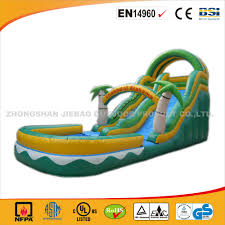 funny jungle inflatable water slide cheap and high quality jumping