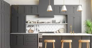 gray stained kitchen cupboards birch cabinets all you need to
