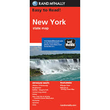 New York travel state images Rand mcnally easy to read state folded map new york jpg
