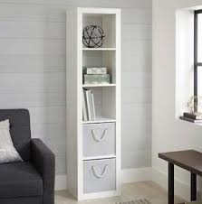Bookcase Storage Units Modern 5 Cube White Wooden Storage Shelf Unit Shelves Bookcase