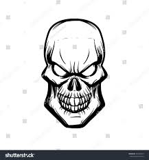 skull logo design template simple illustration stock vector