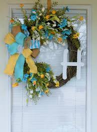 best 25 turquoise wreath ideas on burlap cross wreath