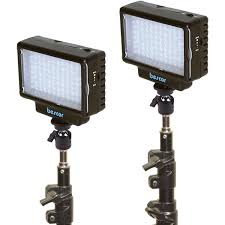 led studio lighting kit bescor led 70 daylight studio 2 light kit led 70k b h photo
