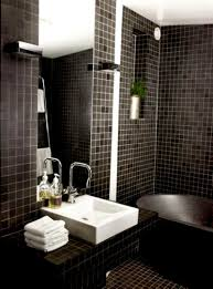 grey accents tiles wall design in tropichal bedroom themed feat shabby black accents mosaic tiles wall idea for bathroom feat likeable square sink and high frameless