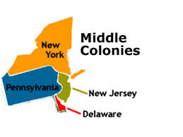 Map Of Colonies Middle Colonies Map My Blog