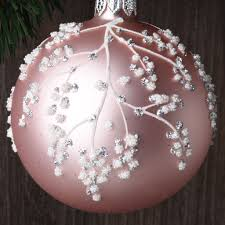 set of 6 winter blossoms european glass ornaments robertson