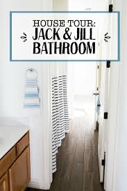 house tour the jack and jill bathroom one lovely life