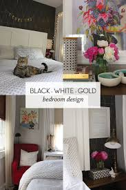Black White Gold Bedroom Ideas Decorating U0026 Home Icing On The Cake Blog