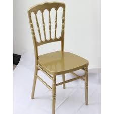 chaise dorée 126 events chaise napoleon 3 dorée en polypropylène tarif a partir