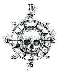 skull tatoo pirate compass pirate compass