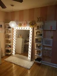 Lighted Makeup Vanity Mirror Excellent Creative Vanity Mirror With Lights For Bedroom Furniture