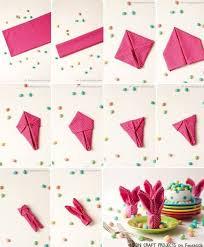 easter napkins 45 best servietten falten images on folding napkins