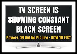 tv screen is black powers on but no picture what to check