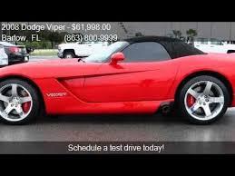 dodge viper 2008 for sale 2008 dodge viper srt 10 2dr convertible for sale in bartow