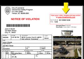 traffic light camera ticket welcome to violationinfo com