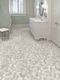 Vinyl Kitchen Flooring by Getting A Hex Tile Look With Vinyl Flooring Ideas House And Bath