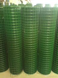 2017 manufacture stainless steel welded wire mesh rolls green pvc