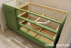 How To Make A Wooden Toy Box by How To Turn A Dresser Into A Bathroom Vanity Domestic Imperfection