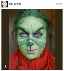Grinch Halloween Costume Grinch Face Painting Mimicks Halloween