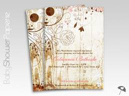 shabby chic floral baby shower invitations