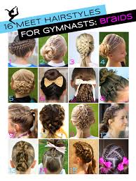 gymnastics picture hair style gymnastics hairstyles for competition braids edition gym gab