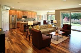 kitchen and living room ideas open kitchen living room design with modern space saving design
