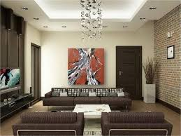 large wall burnt orange square artwork abstract trees