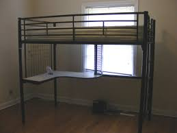 Bunk Beds  Bunk Bed With Desk Ikea Full Size Metal Loft Bed With - Metal bunk bed with desk