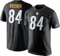nike men u0027s pittsburgh steelers antonio brown 84 pride black t