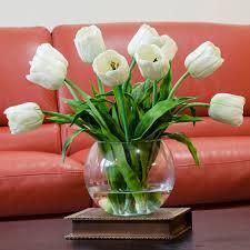 silk tulip flower arrangements stock flower images pinterest