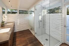 contemporary bathroom with master bathroom frameless