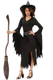 Witch Halloween Costumes D8984 All Black Gothic Witch Halloween Costume U2013 Girlyplaces