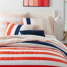 Bright Duvet Cover Prep Stripe Duvet Cover Shams West Elm
