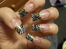 Nail Designs Cheetah Zebra Slash Cheetah Print Nail Gallery