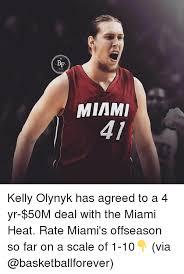 Miami Heat Meme - bf miami kelly olynyk has agreed to a 4 yr 50m deal with the miami