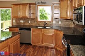 traditional kitchen with balcony hardwood floors in lincoln ne