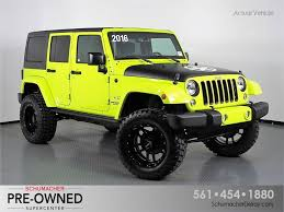 overland jeep wrangler unlimited certified pre owned 2016 jeep wrangler for sale in delray beach fl