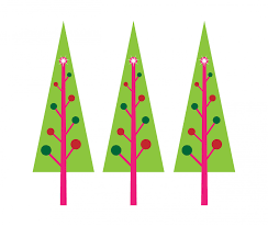 pink christmas tree clipart clipartxtras