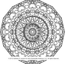free kaleidoscope to color with printable coloring pages new