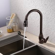 brass bar sink faucet with pull down sprayer head modern single