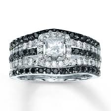 black diamond bridal set diamond bridal set 1 1 4 ct tw princess cut 14k white gold