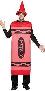 Halloween Costumes Men Red Crayola Crayon Costume Book Day Fancy Dress Mega