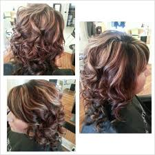 curly hair with lowlights 82 best hair images on pinterest bridal hairstyles wedding hair
