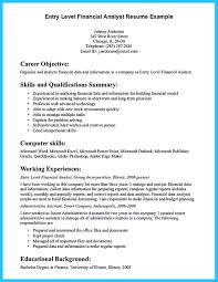 Sample Resume For Financial Analyst Entry Level by Entry Level Data Analyst Resume Sample Free Resume Example And