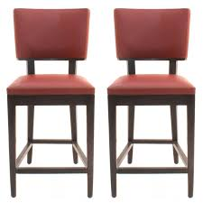 Red Leather Kitchen Chairs - furniture red leather seat and back countertop stools for
