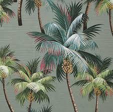 upholstery tropical print fabric palm trees hawaiian style bedding
