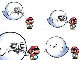 Me Gusta Face Meme - mario meme ghost me gusta luigi poker face lulz pinterest