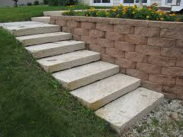Building A Raised Patio With Retaining Wall by If Your Yard Slopes This Is The Perfect Solution A Block